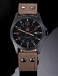 cheap -Men's Wrist Watch Quartz Leather Analog Charm Classic Aristo - Coffee Green Camel One Year Battery Life / SSUO 377