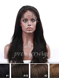 cheap -Human Hair Full Lace Wig style Straight Wig 130% Density Natural Hairline African American Wig 100% Hand Tied Women's Short Medium Length Long Human Hair Lace Wig Premierwigs