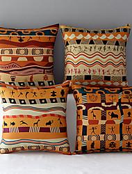 cheap -4 pcs Cotton / Linen Pillow Cover, Novelty Modern Contemporary