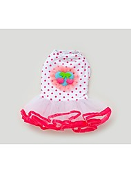 cheap -Dog Dress Dog Clothes Pink Costume Cotton Polka Dot Fruit XS S M L XL