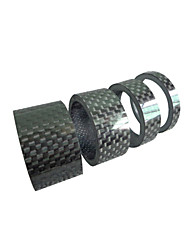 cheap -Bike Headset Washer Durable For Road Bike Mountain Bike MTB Cycling Bicycle Fiber Carbon Black