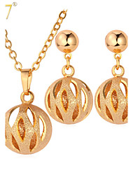cheap -Women's Jewelry Set Harmony Ball Necklace Hollow Out Cute Gold Plated Earrings Jewelry Gold / Silver For Wedding Party Daily