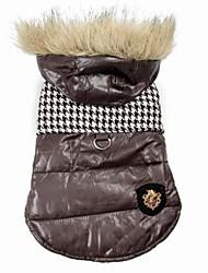 cheap -Dog Coat Hoodie Winter Dog Clothes Black Brown Costume Cotton S M L XL