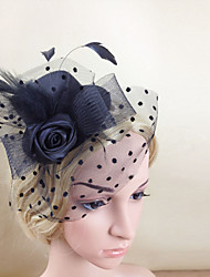 cheap -Feather / Net Fascinators / Hats / Headwear with Floral 1pc Wedding / Special Occasion Headpiece