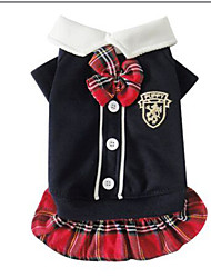 cheap -Dog Dress Winter Dog Clothes Black / Red Costume Cotton S M L XL