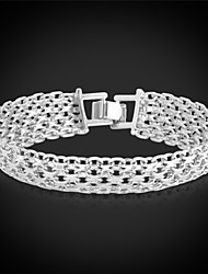 cheap -Women's Chain Bracelet Bracelet Chunky Fashion Platinum Plated Bracelet Jewelry Golden For Christmas Gifts Wedding Party Special Occasion Birthday Gift / Gold Plated