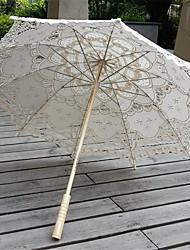 abordables -Poignée de post Dentelle Mariage / Quotidien / Mascarade Parapluie Parapluie Env.78cm