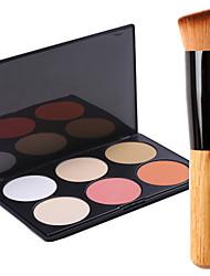 abordables -6 couleurs Poudres Pinceaux de Maquillage Sec / Mélange / Huileux Visage Maquillage Cosmétique