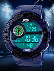 cheap -Men's Wrist Watch Quartz Japanese Quartz Silicone Black / Blue / Green 50 m Sport Watch Digital Charm - Black Green Blue