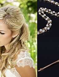 cheap -Crystal / Fabric / Alloy Tiaras / Hair Clip / Head Chain with 1 Wedding / Special Occasion / Party / Evening Headpiece / Hair Pin