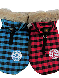cheap -Dog Coat Hoodie Jacket Winter Dog Clothes Yellow Red Blue Costume Cotton S M L XL