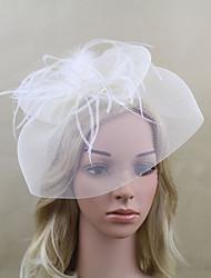 cheap -Women Fabric Headband , Party Mesh / Feather Veils Headpiece
