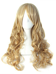 cheap -Synthetic Wig Wavy Wavy Wig Blonde Long Blonde Synthetic Hair Women's Blonde