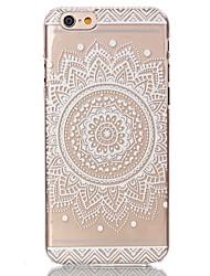 Недорогие -Кейс для Назначение Apple iPhone 6s Plus / iPhone 6s / iPhone 6 Plus Прозрачный / С узором Кейс на заднюю панель Цветы Твердый ПК
