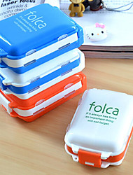 cheap -Three Sections Medicine Case Portable Memorandum Pill 8 Lattices Travel Portable (Random Color)