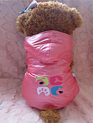 cheap -Dog Hoodie Winter Dog Clothes Purple Pink Costume Mixed Material XS S M L