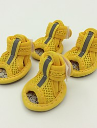 cheap -Dog Boots / Shoes Dog Clothes Yellow Red Costume Terylene 5 1 2 3 4
