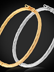 cheap -Women's Bracelet Bangles Twisted Ladies Italian Platinum Plated Bracelet Jewelry Silver / Golden For Wedding Party Daily Casual Sports / Gold Plated