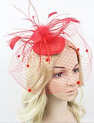 cheap -Women Fabric Hair Clip , Fashion Party Veil Headpiece
