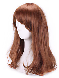 cheap -Synthetic Wig Cosplay Wig Curly Curly With Bangs Wig Brown Synthetic Hair Women's Brown