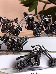 Недорогие -мини старинные мотоциклы металлические скульптуры коллекционные декор искусство (случайный цвет)