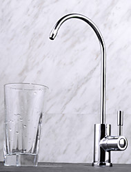 cheap -Kitchen faucet - One Hole Chrome Tall / ­High Arc Deck Mounted Contemporary / Single Handle One Hole