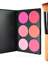 cheap -6 Colors Powders Blush Dry / Combination / Oily Face Makeup Cosmetic