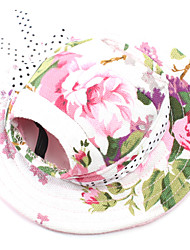 cheap -Cat Dog Hoodie Bandanas & Hats Sport Hat Dog Clothes Black Stripe White / Pink Costume Terylene S M