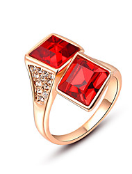 cheap -Party/Casual Gold Plated/Alloy/Fashion Quadrate Crystal Statement Ring