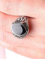 cheap -Men's Party/Casual Alloy Vintage Eye Shape Black Gemstone Statement Ring