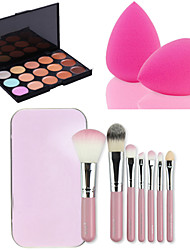 cheap -15 Colors Makeup Set Concealer / Contour Makeup Brushes Coverage / Long Lasting / Concealer Easy to Use Makeup Cosmetic