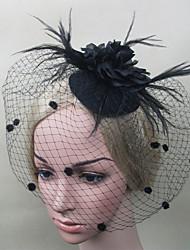 cheap -Women Fabric Hair Clip , Fashion Black Party Veil Headpiece
