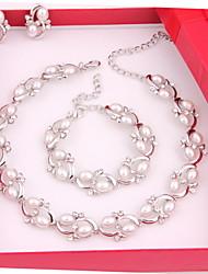 Недорогие -Жен. Прочее Комплект ювелирных изделий Серьги / Ожерелья / браслеты - регулярное Назначение Свадьба / Для вечеринок / Особые случаи
