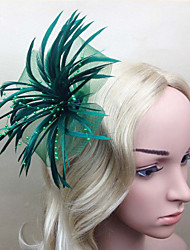 cheap -Feather Fascinators / Flowers with 1 Wedding / Special Occasion / Horse Race Headpiece