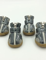 cheap -Dog Boots / Shoes For Pets PU Leather Mixed Material Silver / Winter