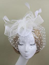 cheap -Women Tulle / Feather Party / Vintage Headpiece Fascinators