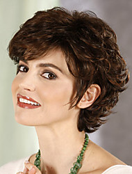 cheap -Synthetic Wig Curly Curly Wig Short Synthetic Hair Women's Brown StrongBeauty