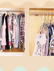 cheap -Set of 8 Ipow Metal Wonder Magic Clothes Closet Hangers Clothing Organizer