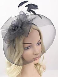 cheap -Women Fabric Headband , Party Mesh / Feather Veil Headpiece
