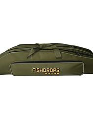 cheap -Fishdrops Fishing Bag, 31.6L Large Capacity Water Proof Navy Green Canvas Bag 80cm* 22cm* 18cm,Three Layers