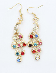 cheap -Women's Crystal Drop Earrings Hanging Earrings Ladies European Fashion 18K Gold Plated Rhinestone Gold Plated Earrings Jewelry For / Imitation Diamond / Austria Crystal