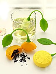 Недорогие -оранжевый заварной чайник формы лимона силиконовый ситечко фильтр-пакет чайник травы