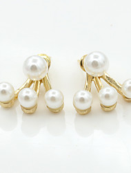 cheap -Women's Crystal Stud Earrings Jacket Earrings European Fashion 18K Gold Plated Pearl Imitation Pearl Earrings Jewelry For / Imitation Diamond / Rhinestone / Austria Crystal