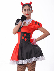 cheap -Halloween/Carnival/Oktoberfest Female Burlesque Cosplay Costumes/Angel & Devil Costumes Skirt/Gloves/Headwear