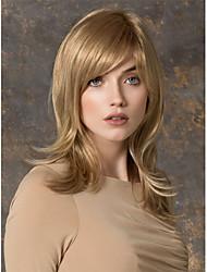 cheap -Human Hair Wig Wavy Wavy Capless Red Mixed Black Blonde Dark Brown 24 inch