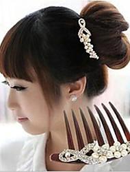 cheap -Side Combs Hair Accessories Plastics / Pearl / Rhinestones Wigs Accessories Women's 2pcs pcs 6-10cm cm Daily Classic
