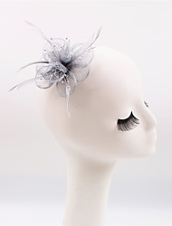 cheap -Gemstone & Crystal / Flax / Feather Fascinators / Headpiece with Crystal 1 Wedding / Special Occasion / Party / Evening Headpiece