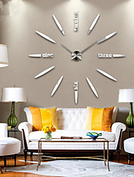 cheap -Modern Contemporary Metal Houses / Family AA Decoration Wall Clock Analog No