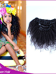 cheap -6A Afro Kinky Curly Clip In Human Hair Extensions Malaysian Hair Clip In Extension Human Hair Extensions
