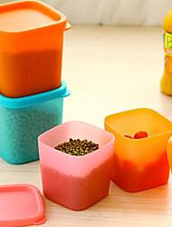 Недорогие -многофункциональный пластиковая коробка для хранения герметизации пищевых контейнеров с крышкой случайный цвет